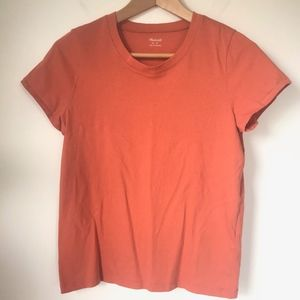 Madewell Basic Tee Soft Orange sz S